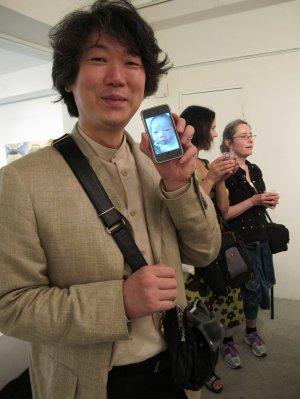 Siichiro Miida checks on his new baby.