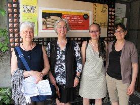 meeting at the gallery, Karen, Florence, April and Susan