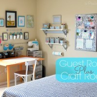 Craft Room / Guest Room Combo Room Reveal Part #1
