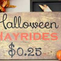 Halloween Hayride {DIY Art}
