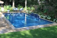 Rectangle Swimming Pool with Water Features Located in Mt ...