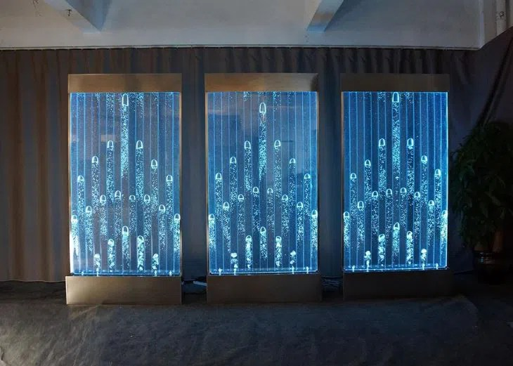 Wall Mount LED Panel Indoor Fountains Bubble Wall Water