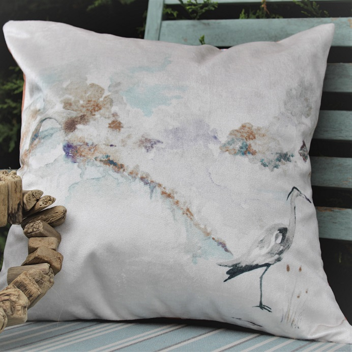 Nautical Homewear Aqua By Design Autumn Heron Cushion