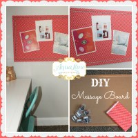 Super Simple DIY Message Board  Craftbnb