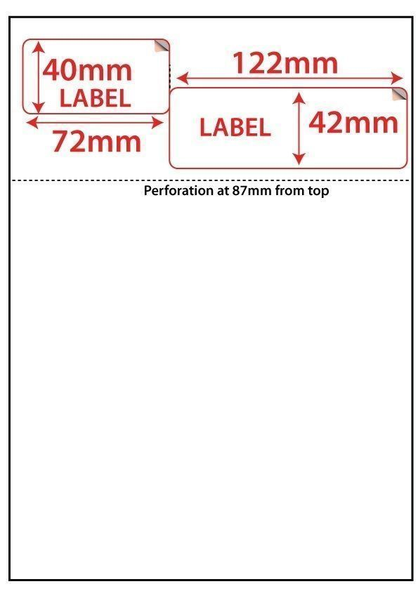 500 EBAY INTEGRATED A4 POST ADDRESS PRINTING LABEL  PACKING SLIP