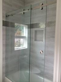 Rolling Shower Doors & Enclosures - Frameless Glass Shower ...