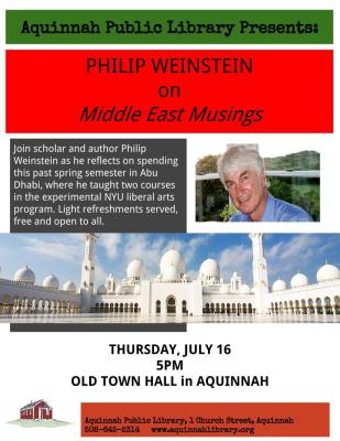 7.16.15 Phil Weinstein- Middle East Musings