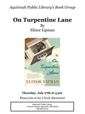 Turpentine lane