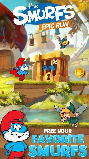 لعبة Smurfs Epic Run المميزة والمليئة بالألوان والاثارة