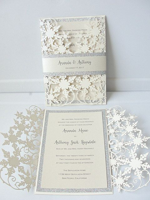 diy winter wonderland invitations