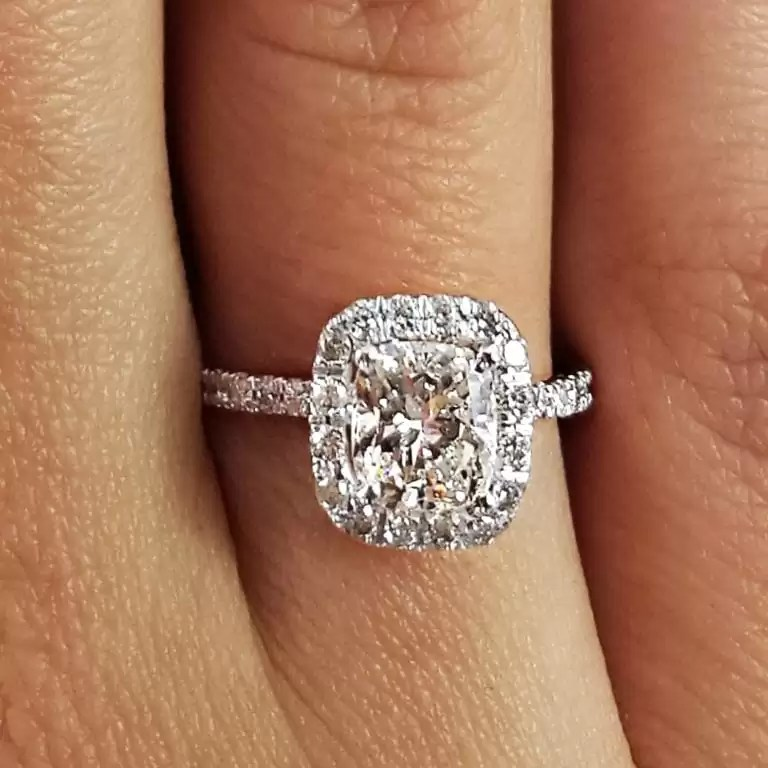 17 Carat Cushion Cut Diamond Engagement Ring Ara Diamonds