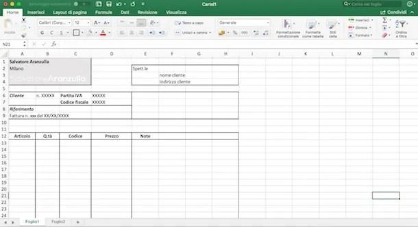 Come usare Excel per fatture Salvatore Aranzulla
