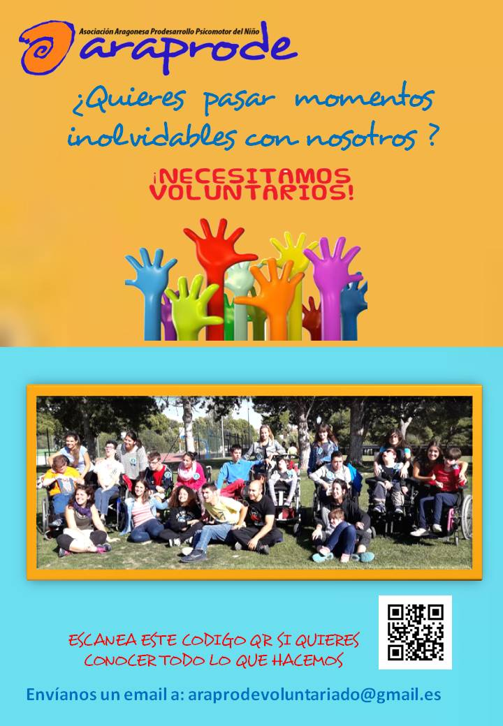 cartel voluntarios con foto