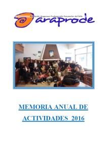 Memoria anual de actividades 2016