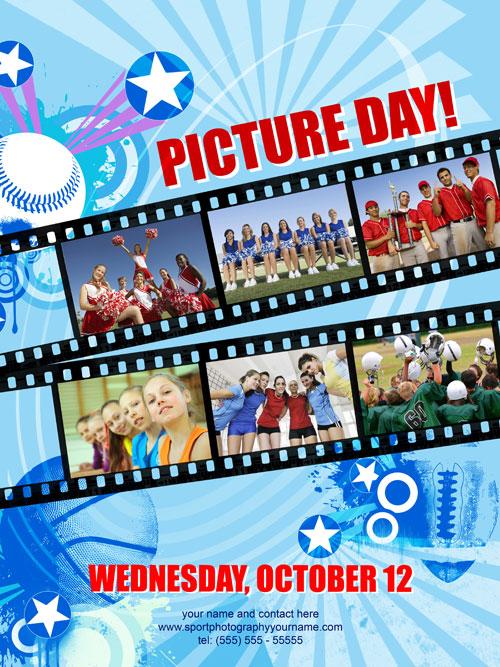 Sport Picture Day Poster 01 Sport Picture Day Poster Template
