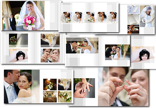 Wedding Album Templates PSD arc4Studio