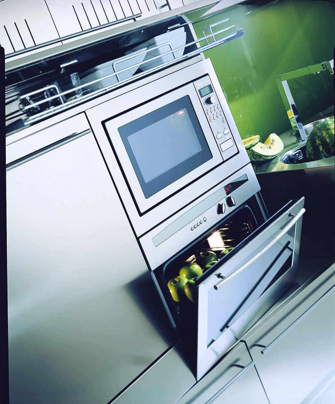 Arca Cucine Italien   Cucina In Acciaio Inox Su Misura   Forni E  Lavastoviglie