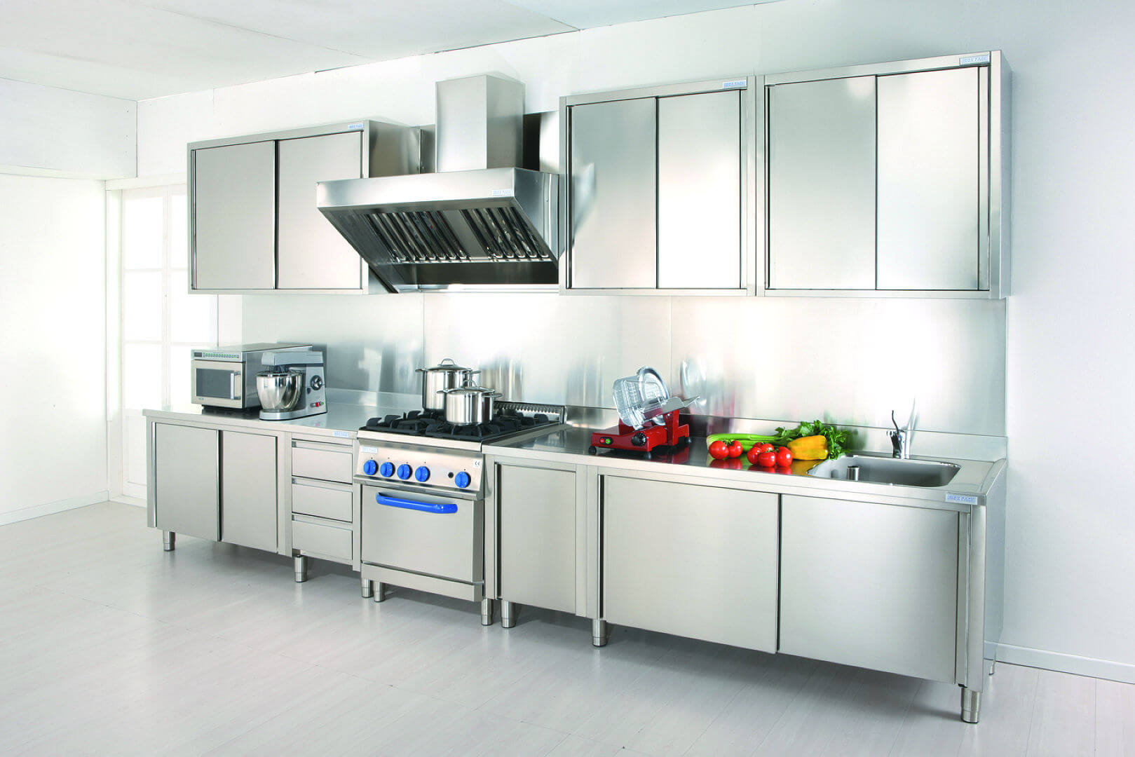 Grand gourmet chef arca cucine italy stainless steel kitchens - Cucine steel opinioni ...