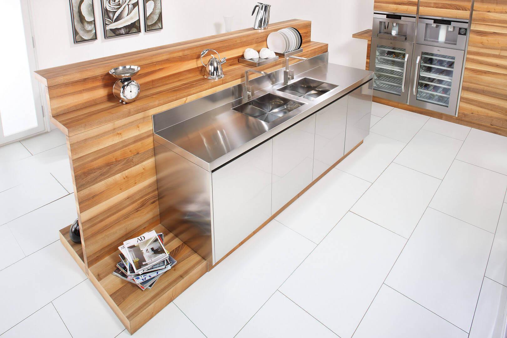 Emejing piano cucina acciaio inox images home interior ideas - Cucine in acciaio per casa ...