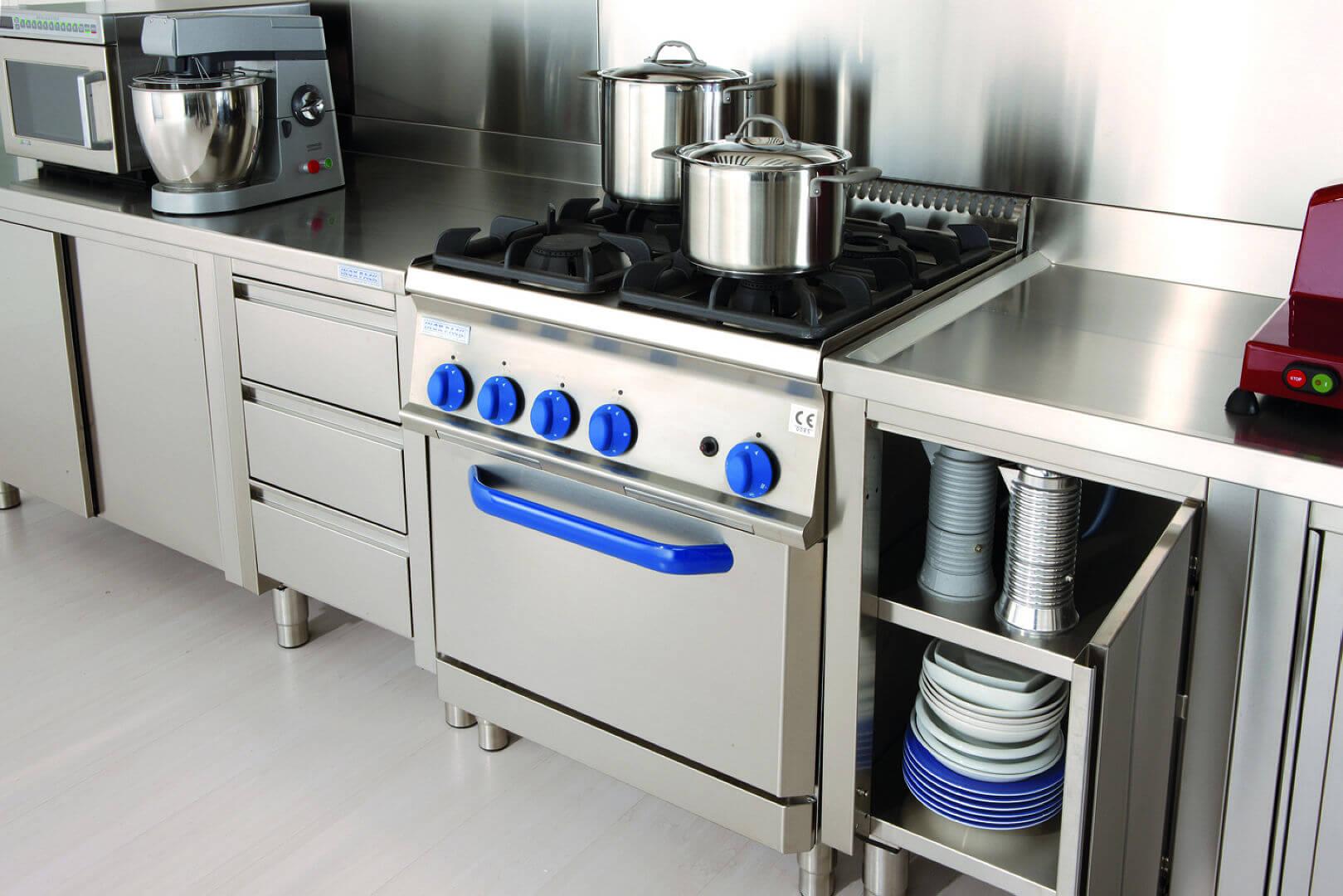 Gourmet Grand Chef - Arca Cucine Italia - Cucine in Acciaio Inox