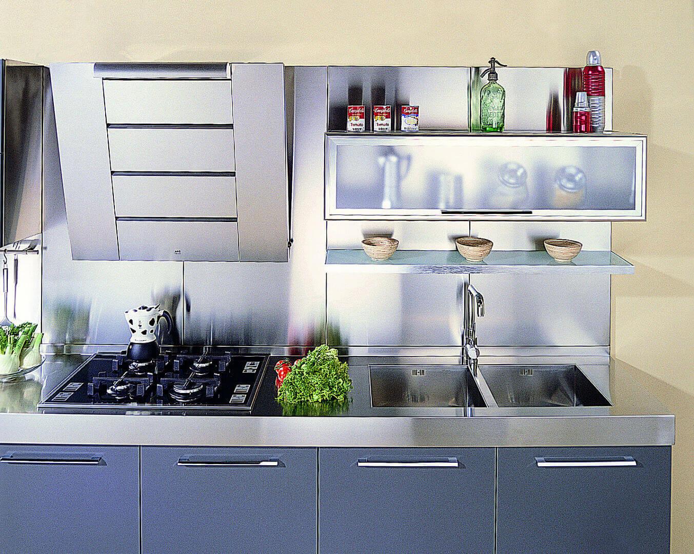 Arca Cucine Italia - Cucina in Acciaio Inox - Quadra
