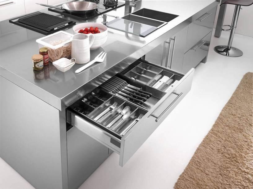 Arca Italian Kitchen - Kitchens Milf Stainless Steel - 23 - Barna - 005