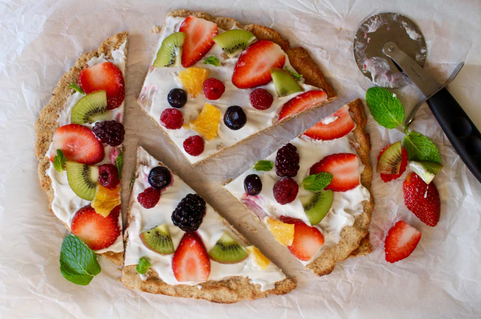 Healthy Fruit Pizza Recipe For Breakfast By Archana39s Kitchen