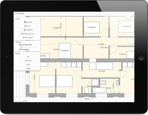 Plan de maison et plan d\u0027appartement GRATUIT - logiciel ArchiFacile - Dessiner Plan De Maison