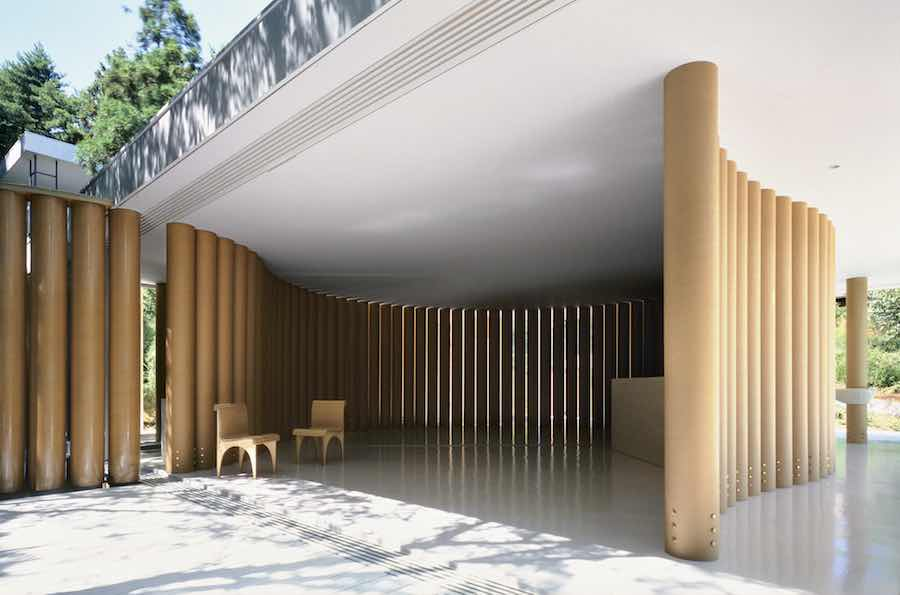CARTA collection by Shigeru Ban in the Paper House - Photo courtesy