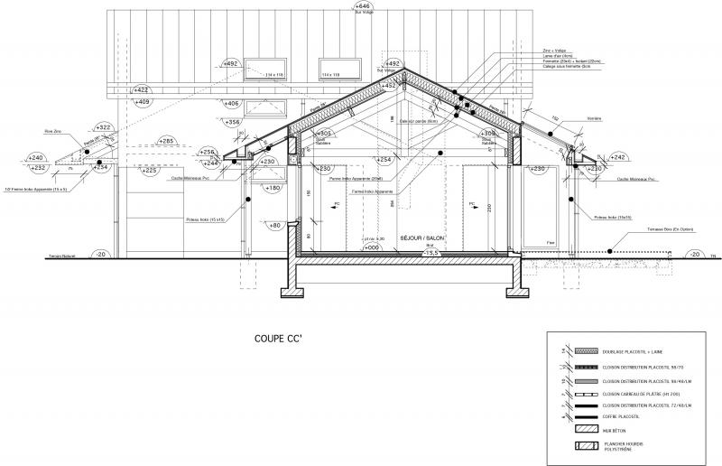 zp 01 maison avec toiture en zinc loctudy architecte l. Black Bedroom Furniture Sets. Home Design Ideas
