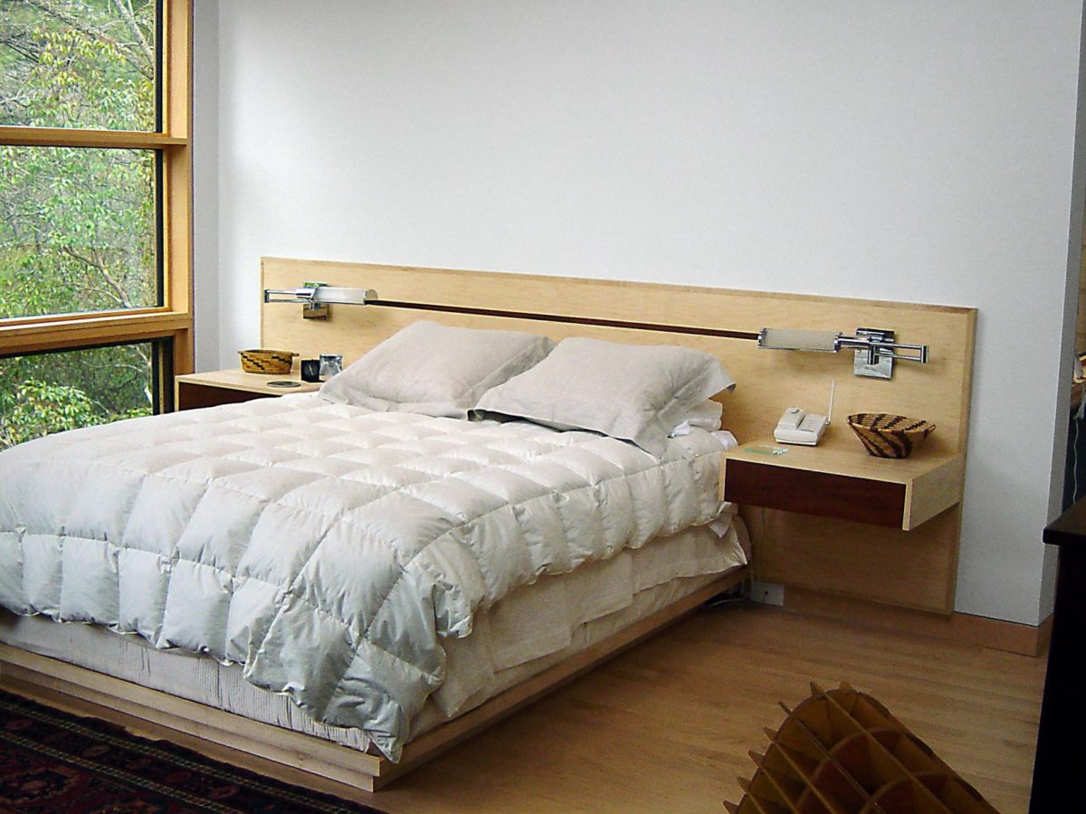 Custom Upholstered Headboards Platform Bed with Inlay Headboard | Architectural Woodcraft