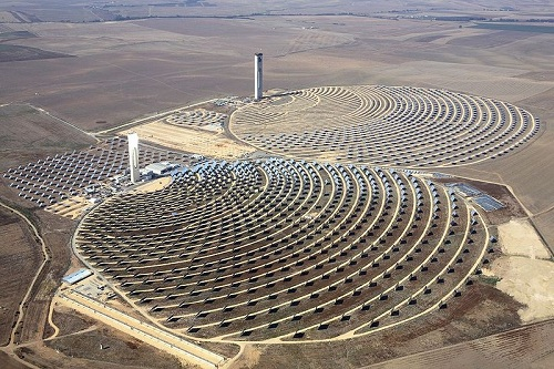 Sustainable Development - Solar Towers utilize the natural resource of the Sun