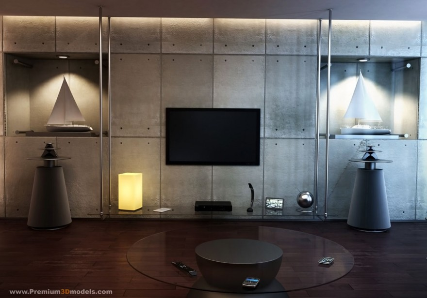 Contemporary Living Room Interior Designs - tv in living room