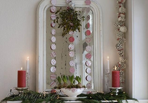 christmas mirror decorations