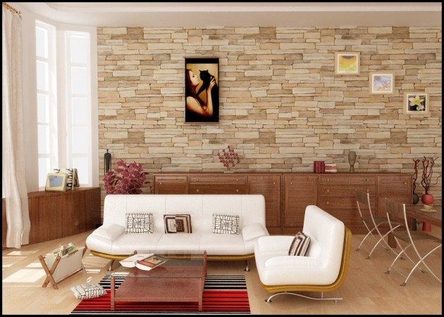 Divine Stone Walls Design Ideas For Enhancing Your Interior - wall design ideas for living room