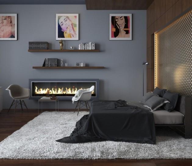 Stunning Bedroom Design Ideas In Grey Color