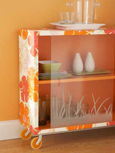 25 Amazing DIY Furniture Makeovers With Wallpaper