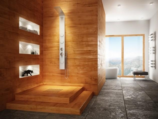 18 Exquisite Contemporary Wooden Bathroom Design Ideas - design ideas