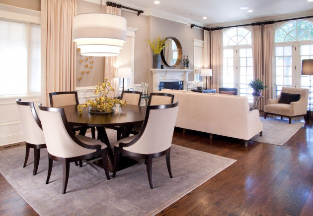 Terrific Transitional Dining Room Designs That Will Fit In Your Home - transitional style living room