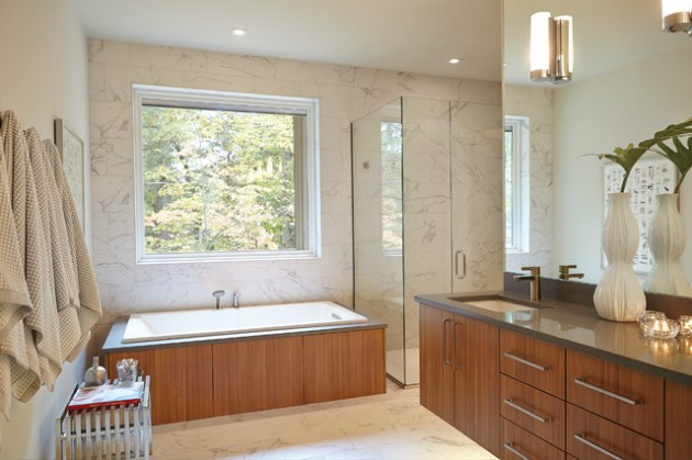 16 Beautiful Mid-Century Modern Bathroom Designs That Are Simply