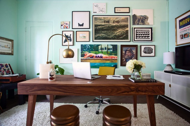 16 Spectacular Mid-Century Modern Home Office Designs For A Retro Feel - modern home office design