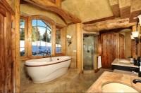 17 Amazing Rustic Bath Designs That Will Make You Feel ...