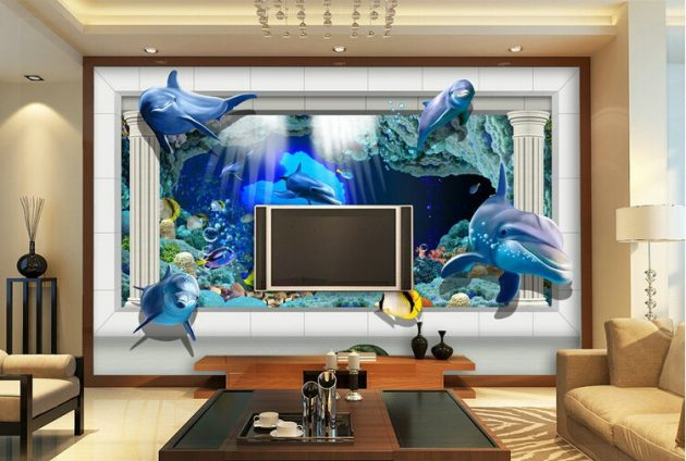 Fascinating 3D Wallpaper Ideas To Adorn Your Living Room - 3d wallpaper for living room