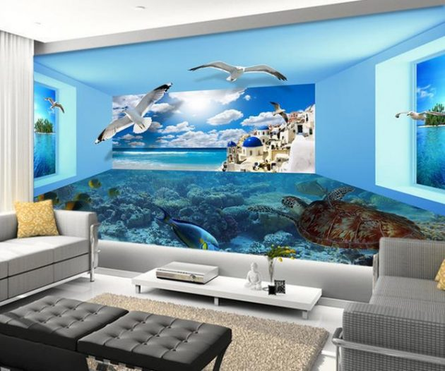 3d Floor Wallpaper Online 17 Fascinating 3d Wallpaper Ideas To Adorn Your Living Room