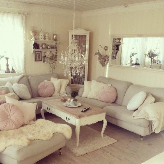 Simple No-Money Tips For Easily Decorating Shabby Chic Living Room - country chic living room