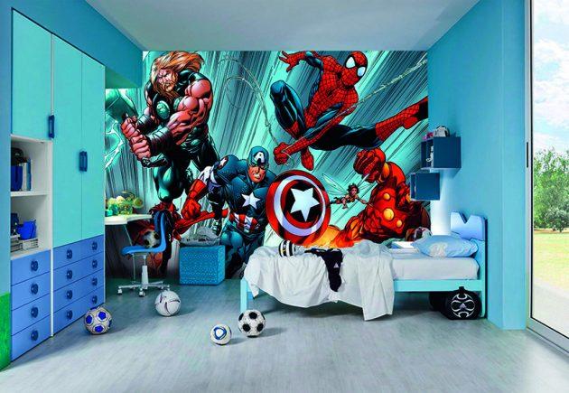 Fall Themed Wallpaper 18 Astounding Superhero Themed Kids Room Designs That
