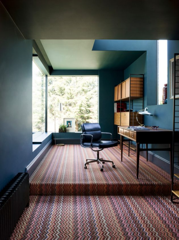 15 Inspirational Mid-Century Modern Home Office Designs - modern home office design