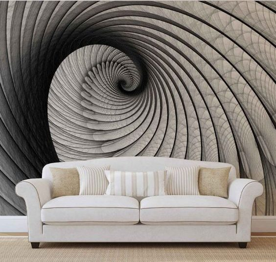 Wallpaper For Living Room 3d 15 Outstanding Wall Art Ideas Inspired By Optical Illusions