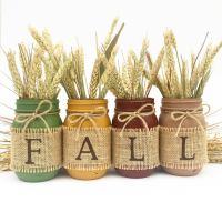 17 Shabby Chic Handmade Fall Mason Jar Decor Ideas For The ...
