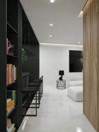 Black And White Interior Design Ideas: Modern Apartment by ...